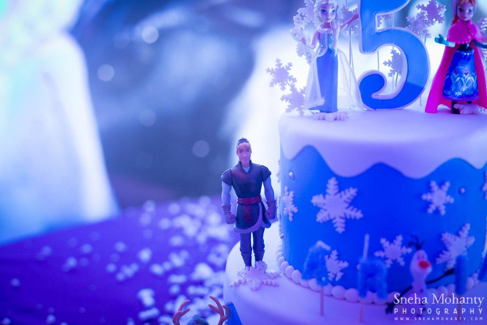 Frozen Theme Cake Birthday Party at Kids Kraze, Kids Photographer Delhi